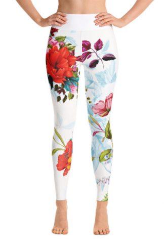 Yoga Leggings mit Blumenmuster