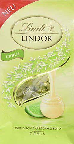 Lindt Lindor Beutel, Citrus, 1 Pack (1 x 137 g)